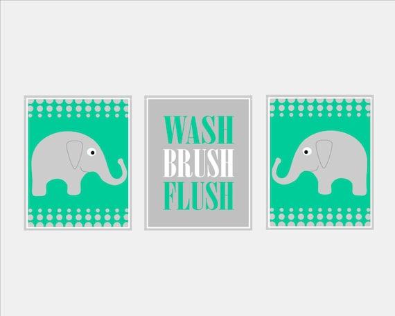 Elephant bathroom decor elephant bathroom art child bathroom art