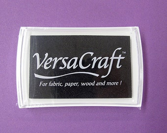 VersaCraft Ink , Real Black, VK-182, Multipurpose water-based pigment ink, fabric, paper, wood, porcelain, leather