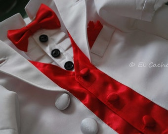 Complete Custom Made Dog 3 Piece Tuxedo for Weddings and Special Events