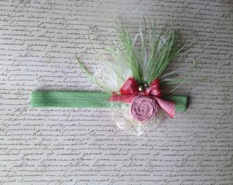Strawberry Shortcake Silk Rosette Headband