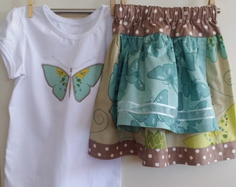 Girls size 5 Picnic skirt with matching top
