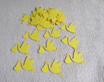 FREE SHIPPING Stork Die Cut Confetti, Stork Confetti, Baby Shower Confetti, Stork Cutout