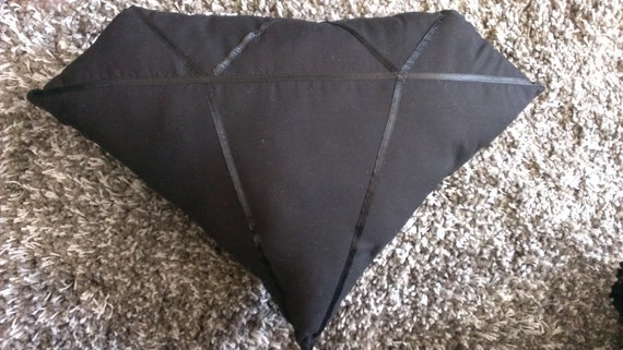 Black Diamond Throw Pillows : Black diamond shaped throw pillow by SistaSistaCo on Etsy