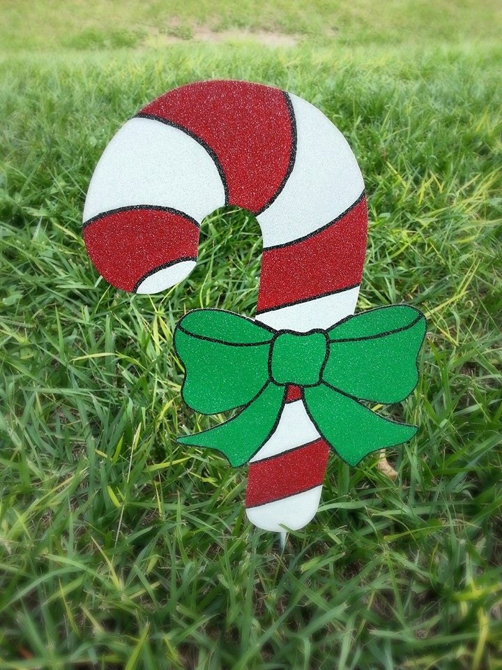 Christmas Outdoor Decorations Candy Canes : Holiday candy cane yard decoration christmas