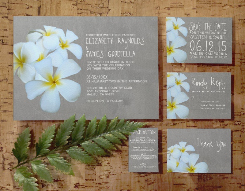 Plumeria Wedding Invitations: Request A Custom Order And Have Something Made Just For You