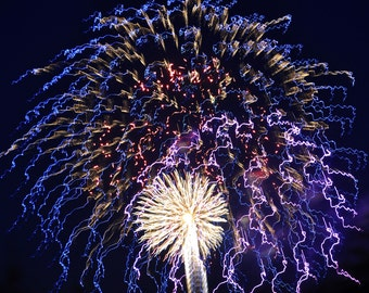 Lights in the Sky, Fireworks, Abstract,