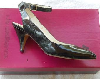 Liz Claiborne Formal Wear Black Patent Shoes 8N