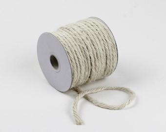 3.5 mm x 25 yd Jute Rope White | Rustic Jute Twine