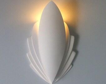 Art Deco  cinema style Plaster wall Uplighter led (Orchid Design)