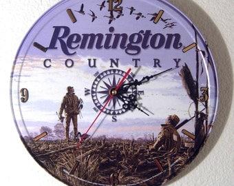 Remington Firearms Wall Clock - 11.75 Diameter - New