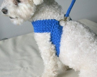 Friendly DOG harness, Matching leash, Dog cotton harness \\ Pet harnesse - Ready to SHIP