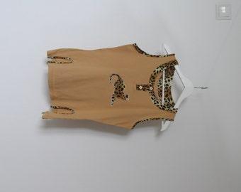 50% SALE Vintage women shirt, Retro Blouse, Brown Antique Shirt