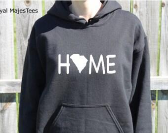 South Carolina Home Hoodie, South Carolina Sweatshirt, State, Home,