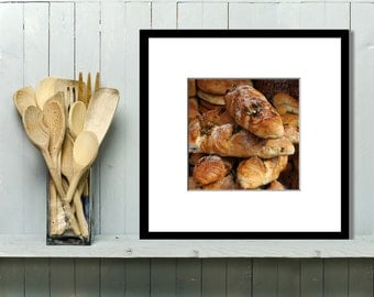 Food Photography, Kitchen Art, Kitchen Decor, Wall Art, Home Decor, Rosemary, Breads, Market, Bakery, neutral