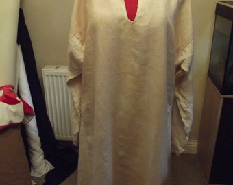 Early Medieval pure linen under Kyrtle (Tunic) Suitable for Viking and Saxon Re-enactment or Larp