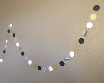 Popular items for gold glitter garland on etsy for Gold dot garland