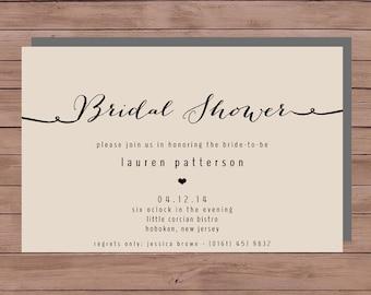 Bridal Shower Invitation - Printable Bridal Shower - Printable Wedding Invitation - Bridal - 101