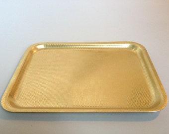 Vintage Geometric Gold Rectangular Tray