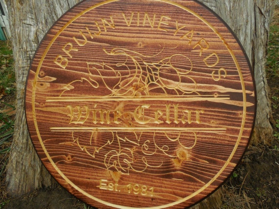 Wood Barrel Wall Decor : Wine personalize bar sign decor barrel by