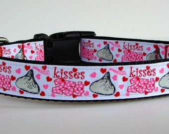 Kisses 25 Cents Dog Collar - READY TO SHIP!