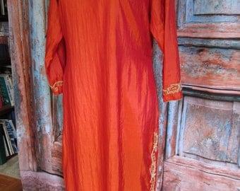 Shalwar Kameez/ Iridescent Copper Indian Tunic/ Clearance