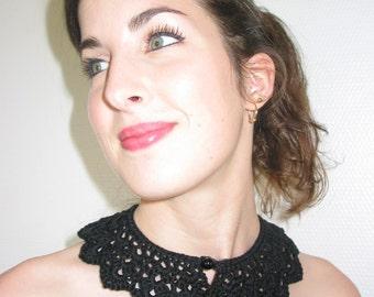 black Georgette collar
