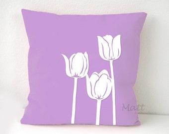 Tulip flower Pillow Cover,  flower pillow case, tulip cushion cover, Wall Decorative pillow, Throw pillow