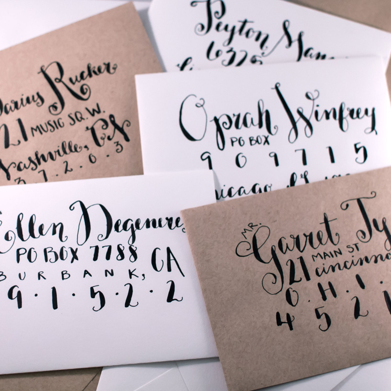 Calligraphy Envelopes By Okotaweddings On Etsy