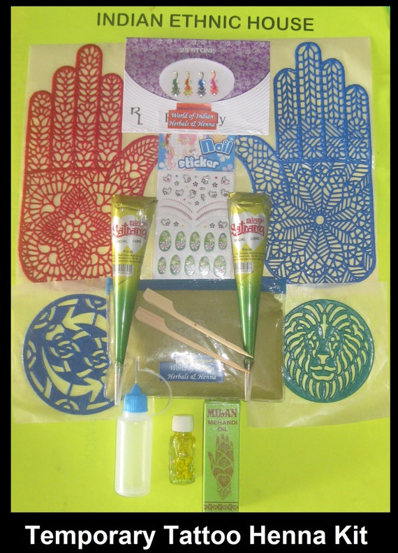 Henna Tattoo Kits For Kids: Henna Temporary Tattoo Kit Applicator Bottle By