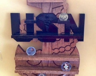 USN Chief Anchor Coin Holder