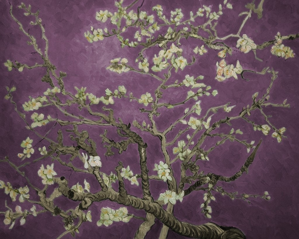 Almond Branches in Bloom (Purple), San Remy, by Vincent Van Gogh for Almond Blossom Van Gogh Poster  150ifm