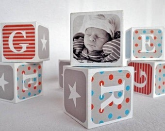 Baby Name Blocks, Nursery Blocks, New Baby Gift / Christening Gift
