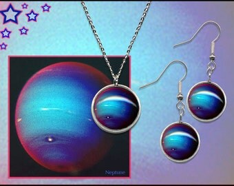 Neptune Earrings and Pendant Gift Set with FREE informative photo gift card.