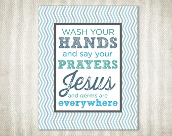 Jesus and Germs are Everywhere Wall Art