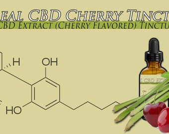 Three Bottles of 1 Ounce Cherry Flavored CBD Oil Tincture 1500MG CBD Strongest Formula Available Organically Grown Top Strains