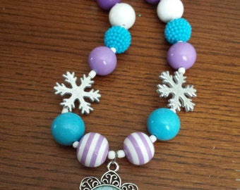 FROZEN Chunky Beaded Necklace for Girls