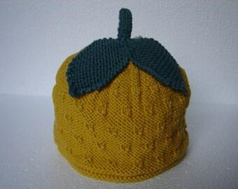 Lemon hat, shirt, made for children 24 months