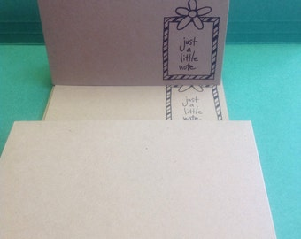 Blank Notecard Set - Just A Little Note -Set of 7