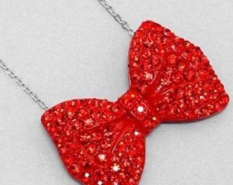 Red Bow Necklace