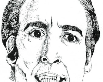 Christopher Lee Classic Horror, card (A5)