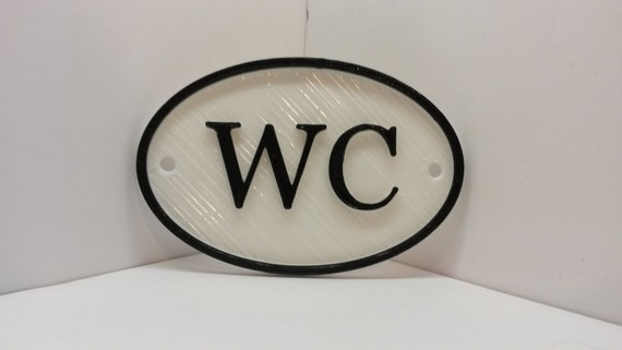 French WC Shabby Chic Toilet Door Sign Vintage Antique Style