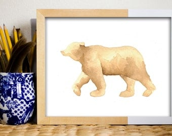 Printable Art - Bear - Instant Download - Woodland Forest Art - Print