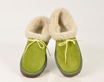 Sheepskin slippers | Etsy