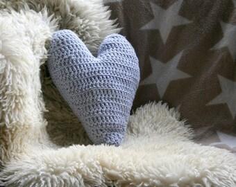 Heart shaped Pillow Crochet Pattern , Heart decor , Valentines Day Pillow
