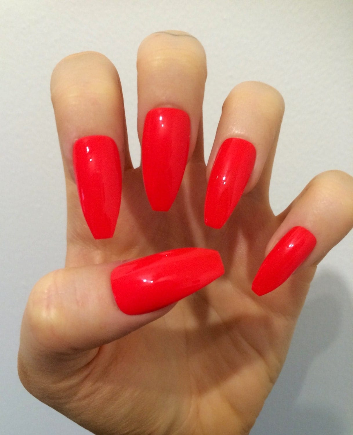 X Simple Red X Matte Or Gloss Bright Red Nails By Kirisklaws