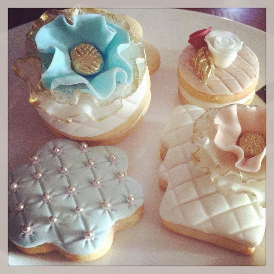 Elegant Wedding Party Favors Sugar Cookies