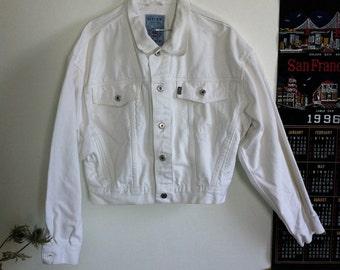 90s lee cooper white denim jacket