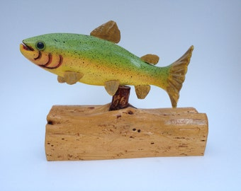 Hand Carved Trout