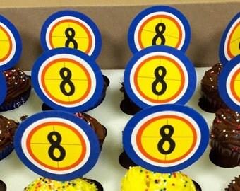 Nerf Gun Target Cupcake Topper