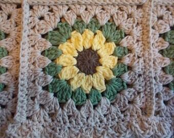 Sunflower Blanket:  100% Cotton